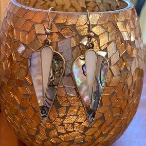 Jewelry - Silver dangle earrings with abalone shell